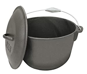 Bayou Classic 7406, 6-Qt. Cast Iron Soup Pot with Cast Iron Lid by Bayou Classic