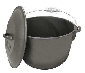 Bayou Classic 7406, 6-Qt. Cast Iron Soup Pot with Cast Iron Lid