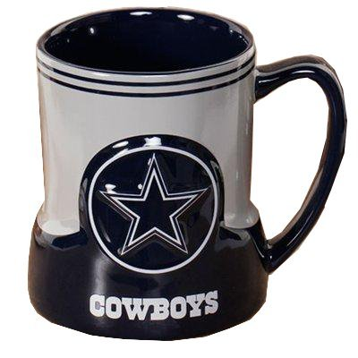 Dallas Cowboys 20 Ounce Game Time Sculpted Logo Relief Coffee Mug at Amazon.com