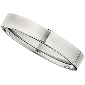Titanium Polished Flat Band: Size 7.5 - 6mm