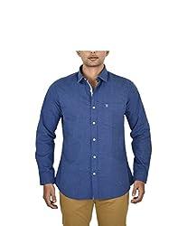 Hackensack Men's Casual Shirt (HNK_09_L_Blue_Large)