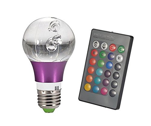 Crystal Light E27 3W 16 Color Rgb Led Light Bulb With Remote Control