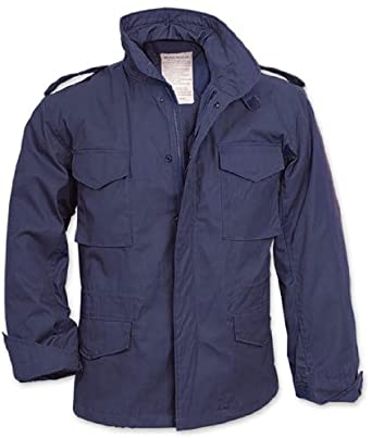 Navy Blue Military M-65 Field Jacket 8527 Size X-Large
