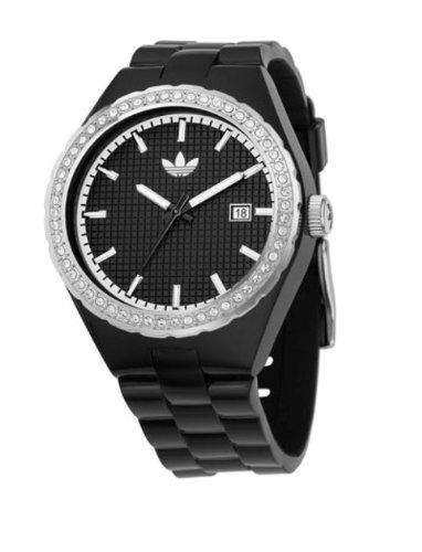 Adidas Unisex Cambridge Black Analogue Watch ADH2035 With Stone Encrusted Bezel