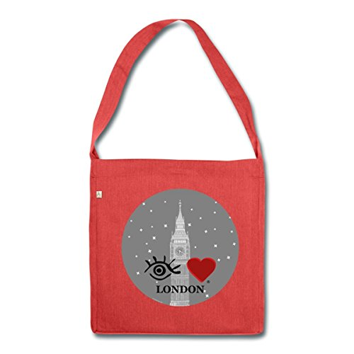 eye-love-londres-sac-bandouliere-100-recycle-de-spreadshirtr-rouge-chine