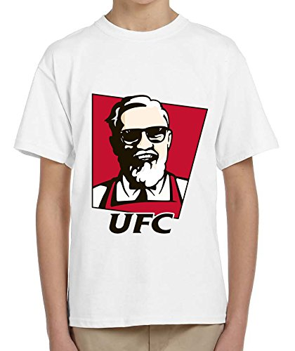 UFC instead KFC Conor McGregor Boxer Design Kids Bambini White T-shirt