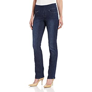 Jag Jeans Women's Peri Pull-On Straight Leg, Anchor Blue, 10