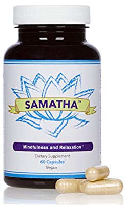 SAMATHA Natural Stress Relief & Anti Anxiety Supplement for Mood, Relaxation, Calming, Reducing Panic Attacks & Promoting a Positive Mindset