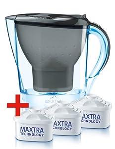 Brita Wasserfilter Marella Cool, graphit, Starterpaket inklusive 3 Kartuschen