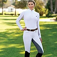 Romfh Sarafina Breeches - Ladies Full Seat - Size:28 Regular Color:White/Lt Grey by ERS