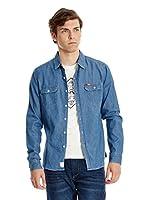 Lee Cooper Camisa Hombre Charrisworth (Azul)