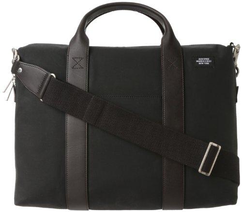 Jack Spade Waxwear Davis Briefcase,Black,One Size