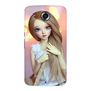 Delighted Doll With Bag Multicolor Back Case Cover for Nexsus 6