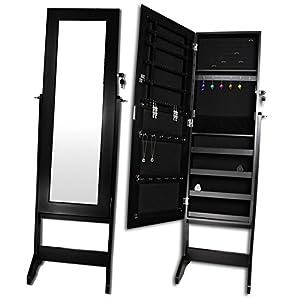 spiegel schmuckschrank spiegelschrank standspiegel schmuck schrank farbe schwarz. Black Bedroom Furniture Sets. Home Design Ideas
