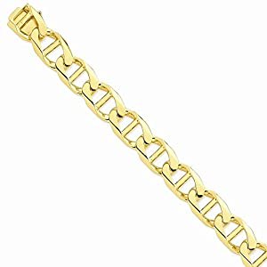 14k 15mm Chaîne d'ancre de lien de poli à la main - 14k 15mm Hand-Polished Anchor Link Chain
