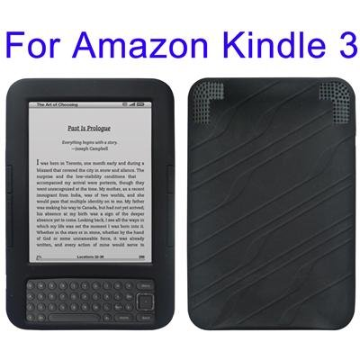 BLACK SILICON COVER CASE FOR AMAZON