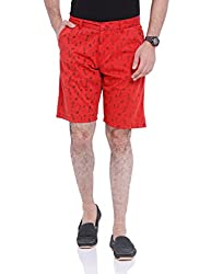 Bandit Red Slim fit Shorts