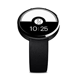 DareTang Dm360 Round Shape Glossy Bluetooth Smart Watch Wholly Compatibility for IOS & Android Like Apple/ Samsung/ Huawei/htc/ Lenovo Etc.,with Heart Rate Monitoring/ Remote Synchronization/ Dynamic Music/ Real-time Step Recording/ High Definition Audio