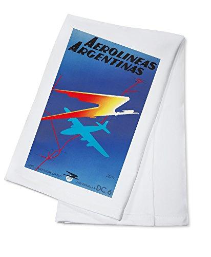 aerolineas-argentinas-vintage-poster-artist-colin-france-c-1950-100-cotton-absorbent-kitchen-towel