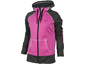 Women's Nike All Time Graphic Full-Zip Hoodie Anthracite/Pink Foil 610822-668 Size XS