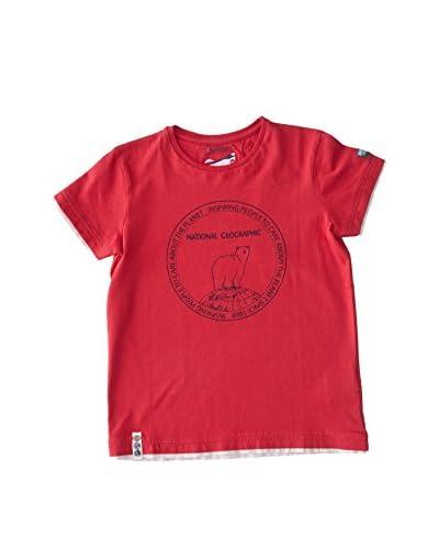 National Geographic T-Shirt Manica Corta Kjio [Rosso]