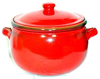 Genuine Terracotta 3l Casserolestew Pot - Savannah Red from Be-Active