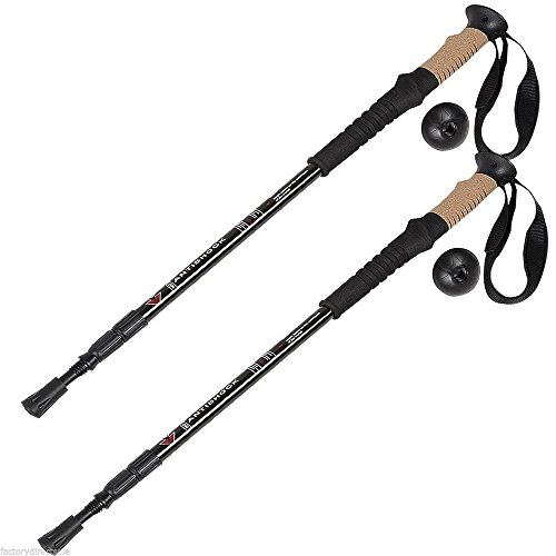 Trekking Walking Hiking Sticks Poles Alpenstock Adjustable Anti Shock (Brand New World Walking Rope compare prices)