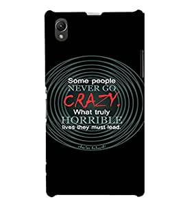 EPICCASE Crazy lives Mobile Back Case Cover For Sony Xperia Z1 (Designer Case)