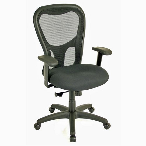 "Eurotech Apollo Mesh Back Managers Chair - 18.9-22.4"" Seat Height - Black"