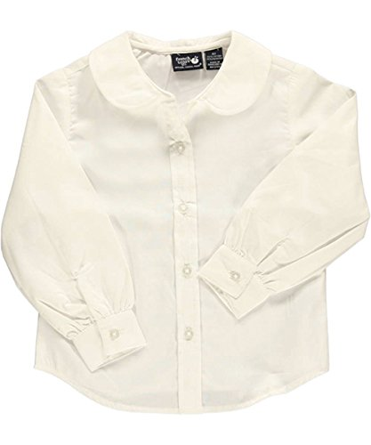 French Toast Little Girls' L/S Peter Pan Blouse - white, 4