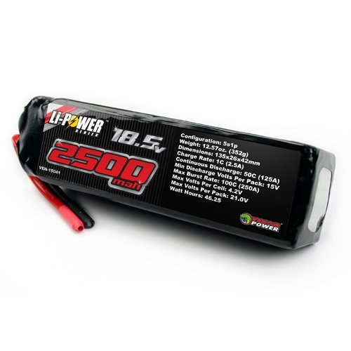 Venom 50C 5S 2500mAh 18.5 LiPO Battery