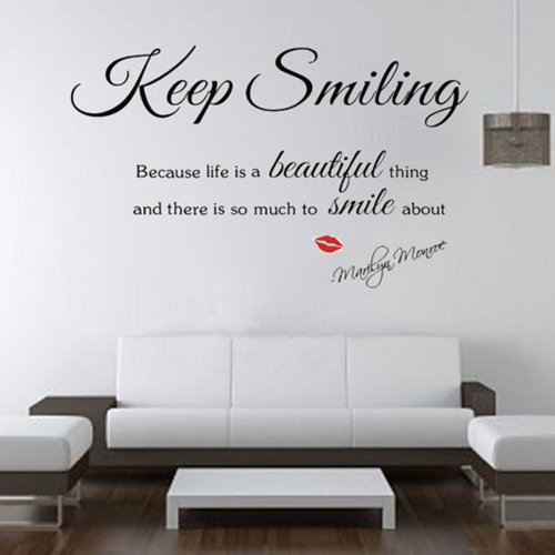 Marilyn Monroe Wall Decor Quotes : Sexy lady marilyn monroe quote wall sticker art decal home