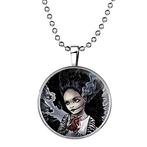 YC Top Design originale bellezza fantasma Halloween noctilucous Ciondolo Collana