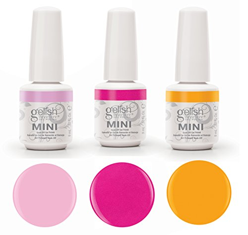 Gelish Neon Street Beat 3 Color Gel Nail Polish Kit - Includes 3 9mL Bottles (Mini Gelish Nail Polish Colors compare prices)