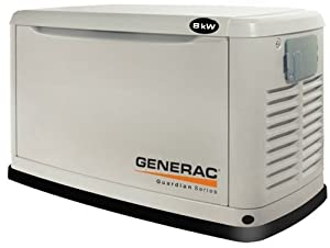 Generac Guardian Series 5883 10,000 Watt Air-Cooled Liquid Propane/Natural Gas Powered Standby Generator Without Transfer Switch (CARB Compliant) by Genender Intl Imports