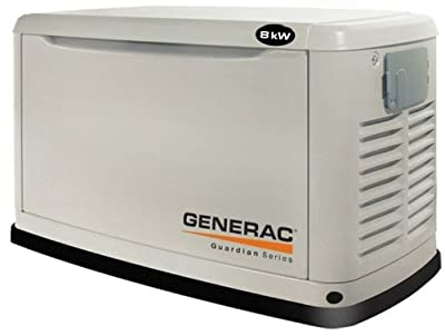 Generac Guardian Series 5882 8,000 Watt Air-Cooled Liquid Propane/Natural Gas Powered Standby Generator Without Transfer Switch (CARB Compliant) from Guardian