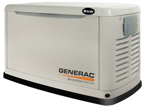 Generac Guardian Series 5883 10,000 Watt Air-Cooled Liquid Propane/Natural Gas Powered Standby Generator Without Transfer Switch (CARB Compliant)