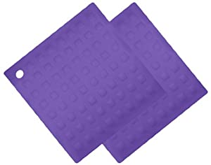 Aroma Bakeware Silicone Trivet Pot Holder (Set of Two) (Purple) by Aroma Bakeware