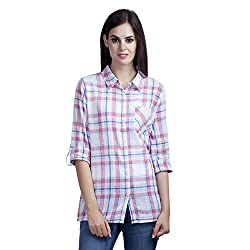 MansiCollections Women's Causal Checkered Shirt (XXX-Large)