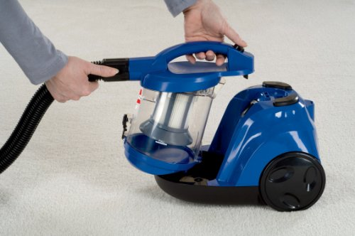 Bissell Zing Bagless Canister Vacuum Caribbean Blue