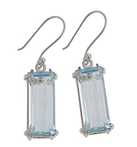 Rectangular Crystal Earring From the Crystal Collection Designed By Mauricio Serrano For Basic Jewelry