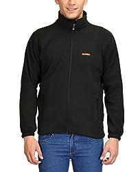 Plutus ALFLE-Black-L Fleece Full Sleeve Sports Jacket