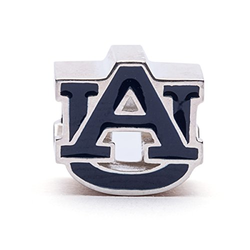 Auburn Tigers AU Logo Bead Charm - BLUE - Fits Pandora & Others - Lifetime Guarantee