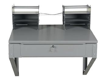 """Vestil SHOP-DW Wall-Mounted Desk, 24"""" Width, 11-3/4"""" Height, 22-1/2"""" Depth"""