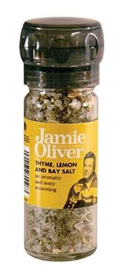 Jamie Oliver Tyme, Lemon & Bay Salt Grinder by Fiddes Payne