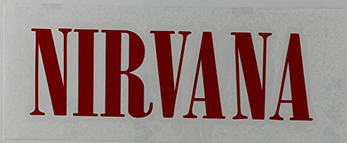 CandD Visionary Nirvana Rub-On Sticker Red
