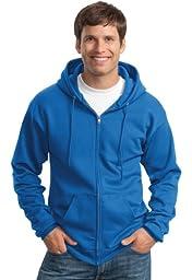 Port & Company Classic FullZip Hooded Sweatshirt-L (Charcoal),4X Big,Royal