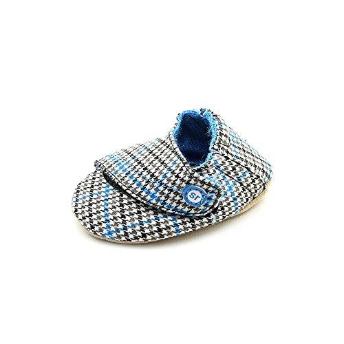 Stride Rite Crib Hip Houndstooth Crib Shoe (Infant),Black/Blue,2 M Us Infant front-988949