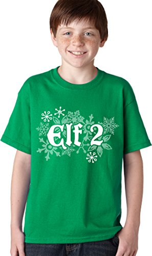 Youth Elf Two T Shirt Funny Christmas Shirt Costume Tee For Couples For Kids