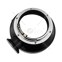 Fotodiox Pro Lens Mount Adapter w/Focus Confirmation Chip, Hasselblad V Lens to Canon EOS EF, EF-S Camera (EOS 7D, 1D & 60D)